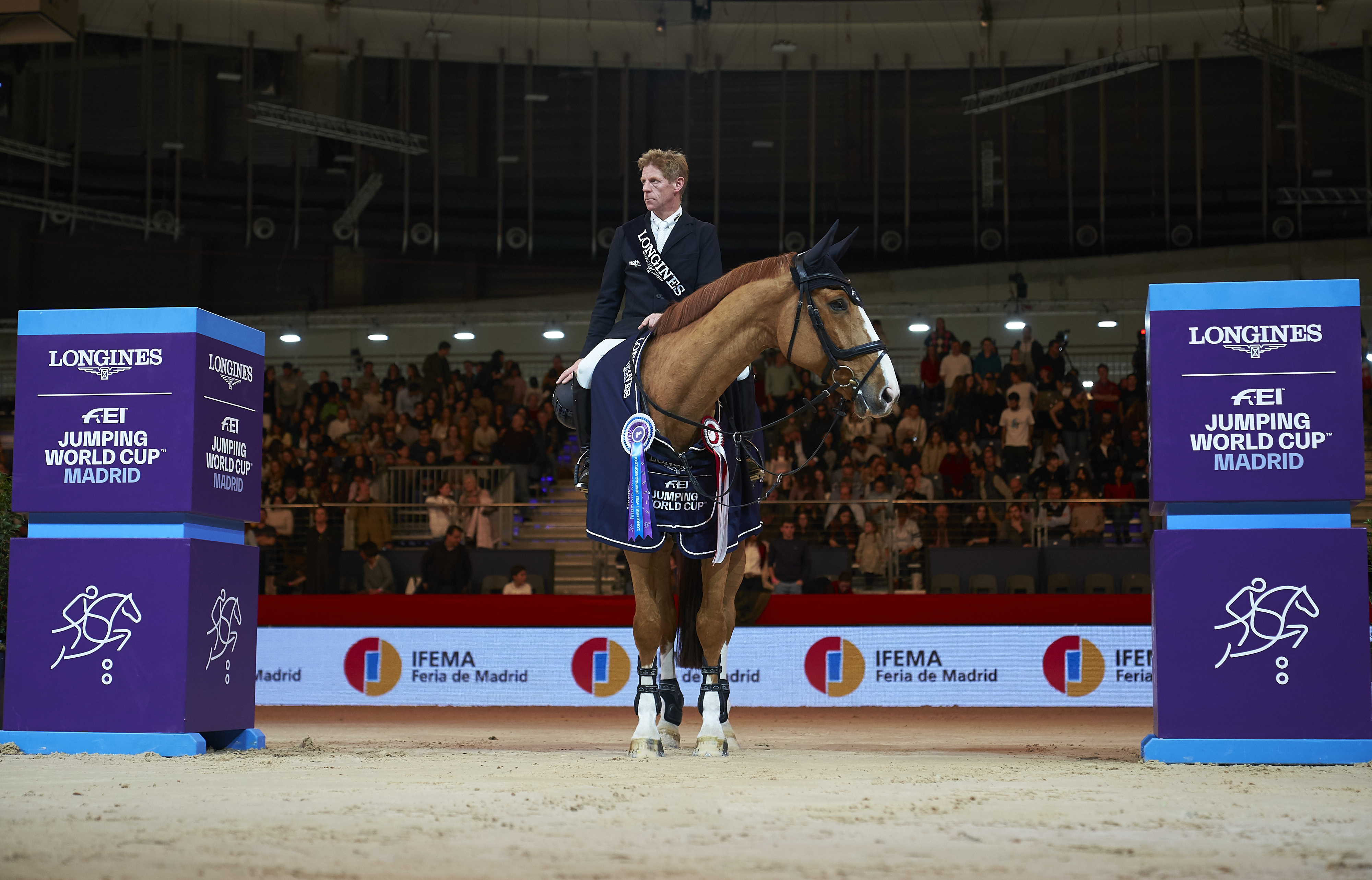 Unbeatable Marcus Ehning, in the Longines FEI World Cup Grand Prix of IFEMA Madrid